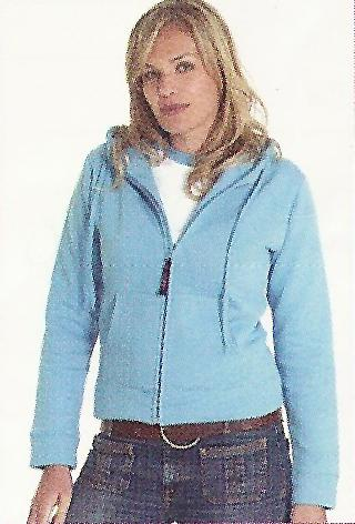 Ladies Zip Hooded Sweatshirt(Example)